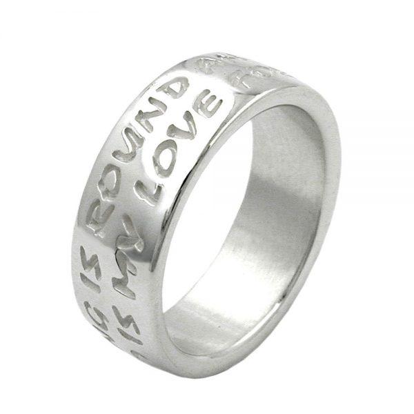 Anneau amour na pas de fin argent 925 Krossin bijoux en argent 90909 58xx