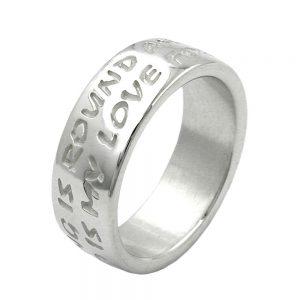 Anneau amour na pas de fin argent 925 Krossin bijoux en argent 90909 60xx