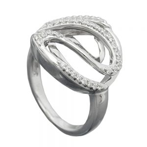 Anneau de nombreux Zircons argent 925 Krossin bijoux en argent 94045 58xx