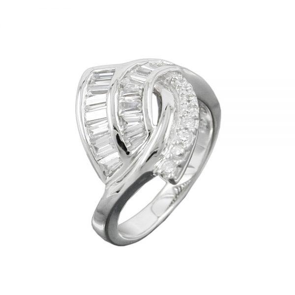 Anneau de nombreux cristaux de Zircon argent 925 Krossin bijoux en argent 93046 56xx
