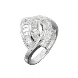Anneau de nombreux cristaux de Zircon argent 925 Krossin bijoux en argent 93046 60xx