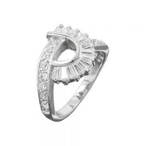 Anneau de nombreux cristaux de Zircon argent 925 Krossin bijoux en argent 93047 58xx