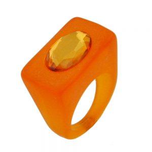 Anneau en plastique orange vif 06308xx