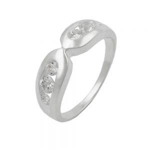 Bague 6mm 6 cristaux de Zircon argent 925 Krossin bijoux en argent 92673 54xx