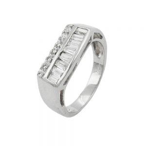 Bague Zircon cristaux argent 925 Krossin bijoux en argent 93048 54xx