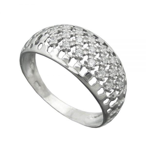 Bague avec Zircons argent 925 Krossin bijoux en argent 94064 57xx