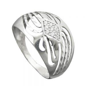 Bague avec Zircons argent 925 Krossin bijoux en argent 94070 57xx
