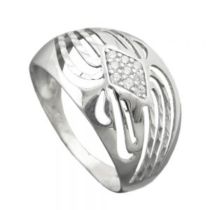 Bague avec Zircons argent 925 Krossin bijoux en argent 94070 58xx