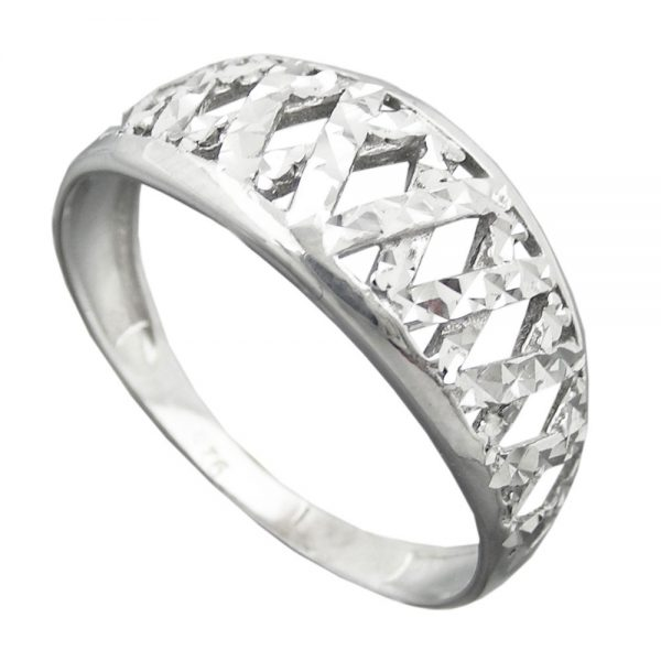 Bague avec diamant taille en argent 925 Krossin bijoux en argent 94060 56xx