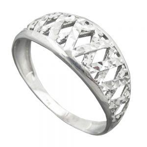 Bague avec diamant taille en argent 925 Krossin bijoux en argent 94060 58xx