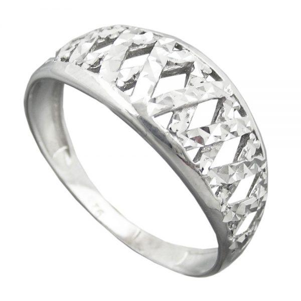 Bague avec diamant taille en argent 925 Krossin bijoux en argent 94060 61xx