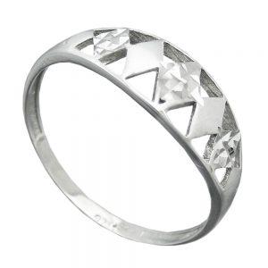 Bague avec diamant taille en argent 925 Krossin bijoux en argent 94065 55xx