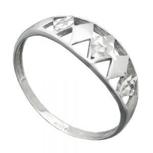 Bague avec diamant taille en argent 925 Krossin bijoux en argent 94065 56xx