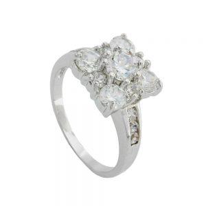Bague cubique Zircon cristal blanc 01216 60xx