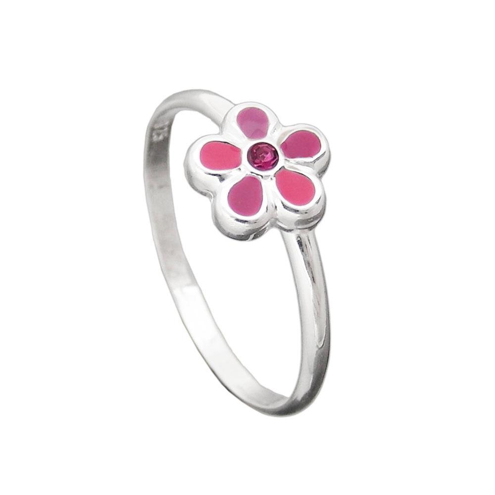 Bague Fleur Rose Argent 925 Krossin Bijoux En Argent Et Or