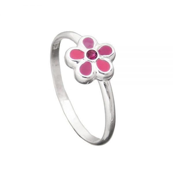 Bague pour enfants rose fleur argent 925 Krossin bijoux en argent 91618 48xx