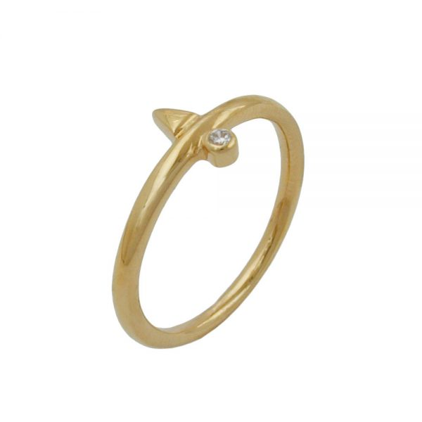 Bague zircon plaque or 30085 62xx