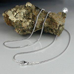 Boite a chaine diamantee Taille 1.3mm argent 925 Krossin bijoux en argent 36cm 106103x