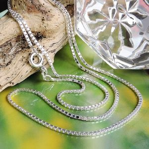Boite a chaine diamantee en argent 925 Krossin bijoux en argent 38cm 106100x