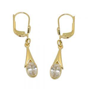 Boucle d oreille Zircon blanc 8k gold 431370xx