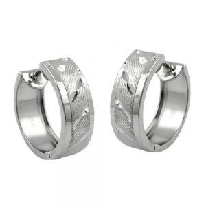 Boucle doreille cerceau diamant coupe argent 925 Krossin bijoux en argent 91537xx