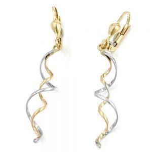Boucles d oreilles a levier en or 9k 430755xx