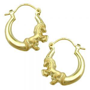 Boucles d oreilles avec des chevaux en or 9 carats 430915xx