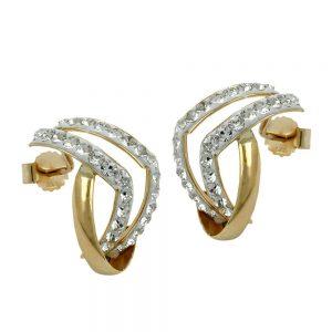 Boucles d oreilles avec zircons en or 9 carats 430218xx