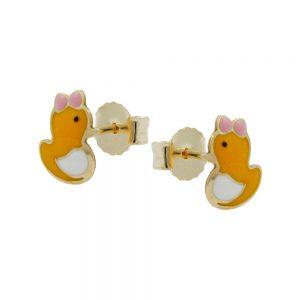 Boucles d oreilles canard en or 9 carats 431021xx