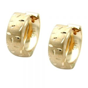 Boucles d oreilles creoles diamantees or 9 carats 430948xx