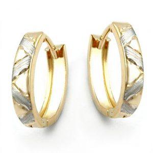 Boucles d oreilles creoles diamantees or 9 carats 430950xx