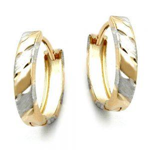 Boucles d oreilles creoles diamantees or 9 carats 430951xx