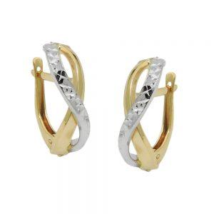 Boucles d oreilles creoles taille diamant 9 carats 431413xx