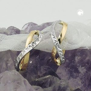 Boucles d oreilles creoles taille diamant 9 carats Krossin bijoux or 431413x