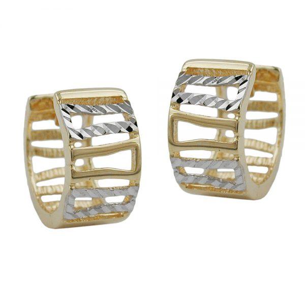 Boucles d oreilles  deux tons 9 carats 430935xx