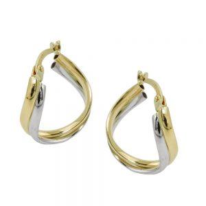 Boucles d oreilles  deux tons 9 carats 431411xx