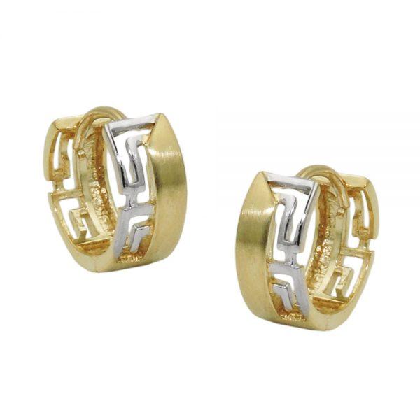 Boucles d oreilles  deux tons 9 carats 431433xx