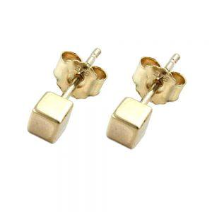 Boucles d oreilles en or 9k petit cube 430419xx