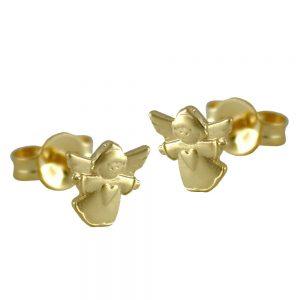Boucles d oreilles pendantes ange en or 9 carats 430008xx