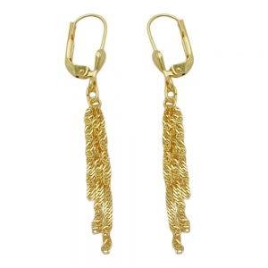 Boucles d oreilles pendantes chaine  8k or 431082xx