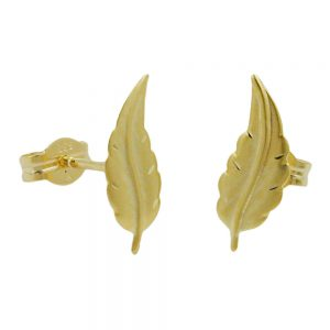 Boucles d oreilles pendantes mat feuille finie or 8 carats 431084xx