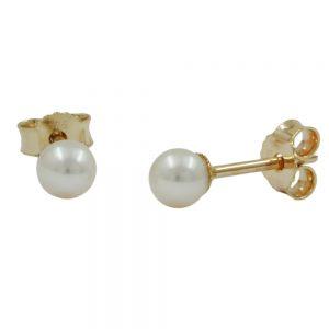 Boucles d oreilles perle 3mm 9k or 430553xx
