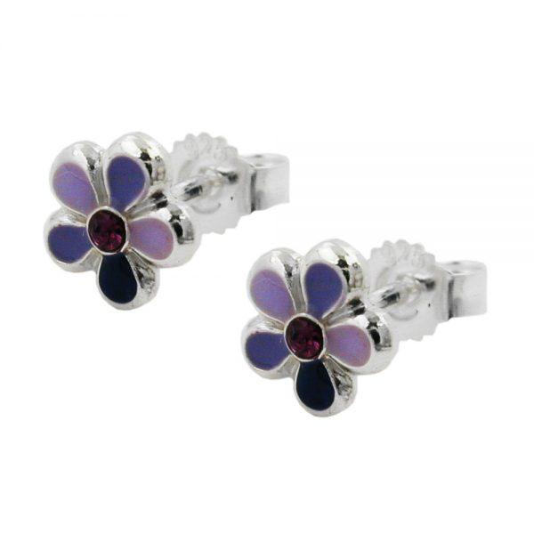 Boucles doreille fleur argent 925 Krossin bijoux en argent 91964xx