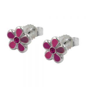 Boucles doreille fleur argent 925 Krossin bijoux en argent 91967xx