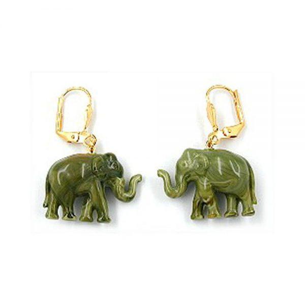 Boucles doreilles a levier mini elephant olive 00489xx
