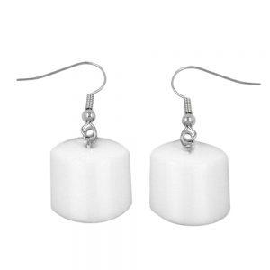 Boucles doreilles crochet bretelles perle blanc brillant 02615xx