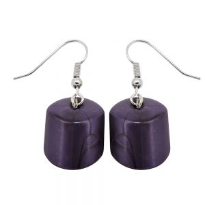 Boucles doreilles pendantes perles lilaq 02531xx