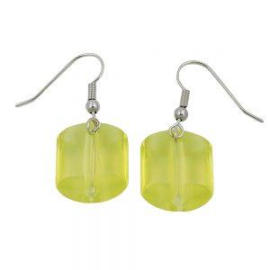 Boucles doreilles pendantes perles vert clair 02036xx
