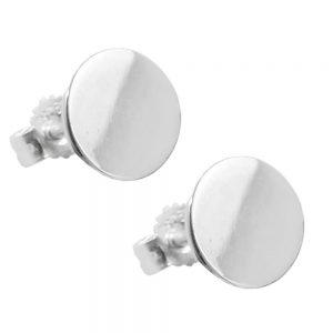 Boucles oreilles Plaque 8mm argent poli 925 Krossin bijoux en argent 93809xx