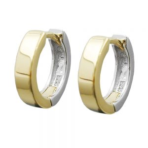 Boucles oreilles a deux tons argent 925 Krossin bijoux en argent 91915xx